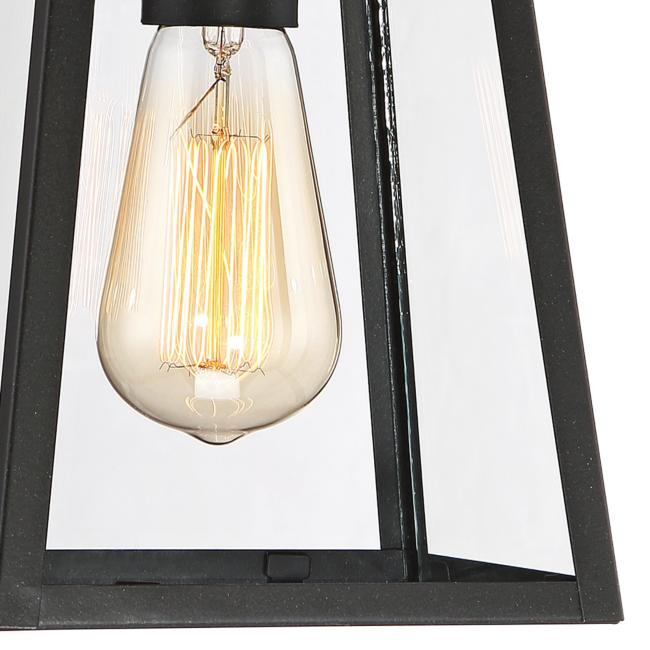 "Arrington 6"" Wide Mystic Black Outdoor Ceiling Light"