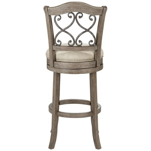 "Newton Tuxedo Putty Fabric 30"" Swivel Barstool"