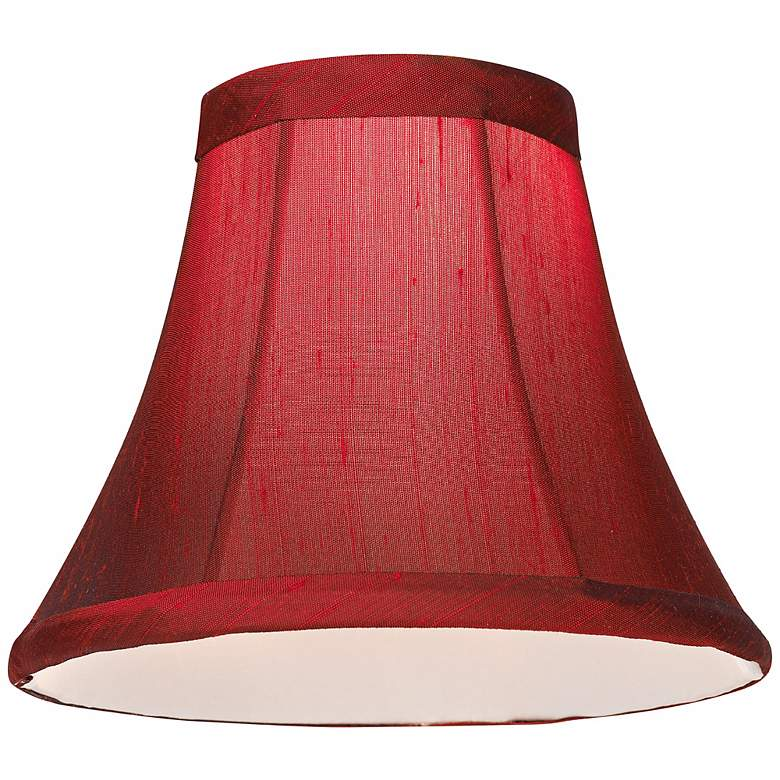 Deep Red Small Bell Lamp Shade 3x6x5 (Clip-On) more views