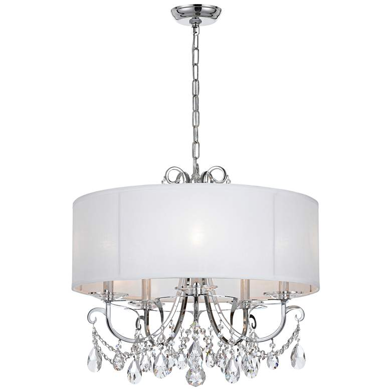 "Crystorama Othello 24""W Chrome 5-Light Crystal Chandelier more views"