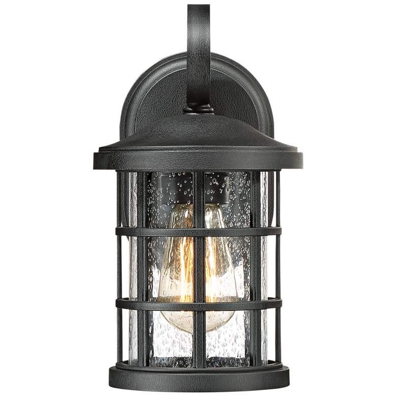 "Quoizel Crusade 11"" High Earth Black Outdoor Wall Light more views"