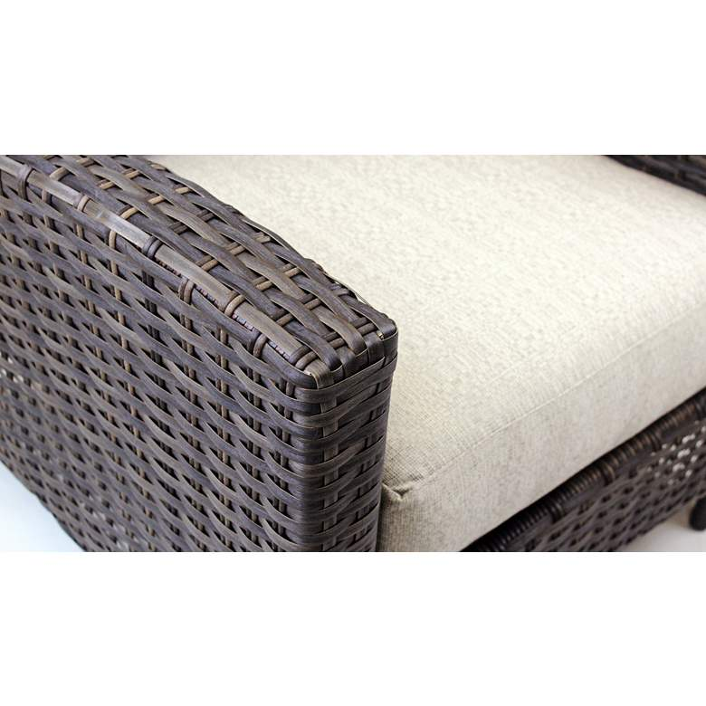 Giulia Charcoal Brown Wicker 3-Seat Outdoor Sofa more views