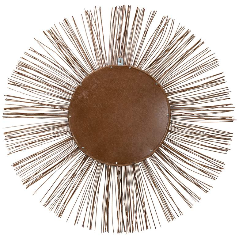 "Stellar Natural Rattan 38 1/2"" Sunburst Wall Mirror more views"