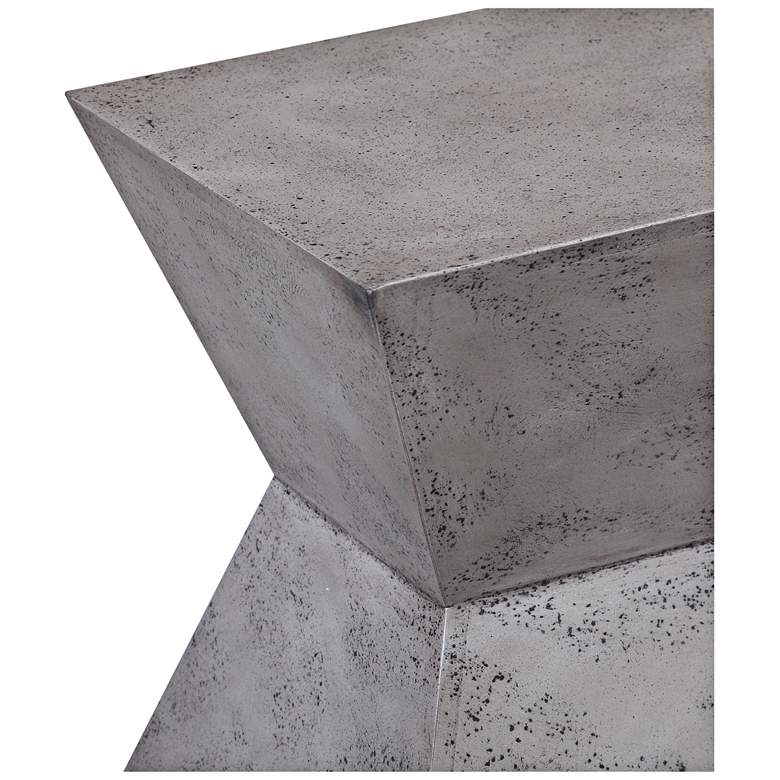 Everly Concrete Square Accent Stool more views