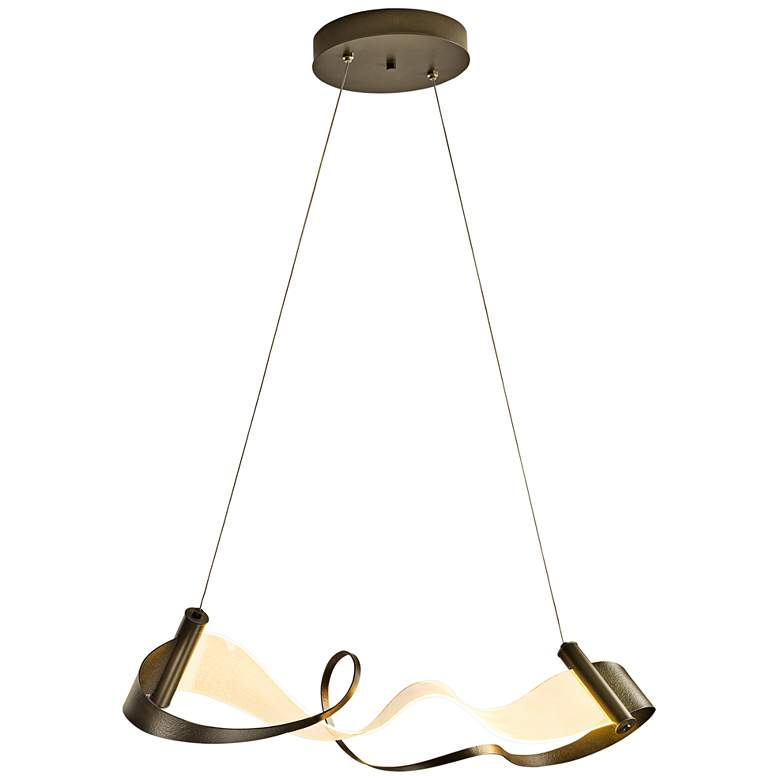 "Zephyr 38 1/2"" Wide Smoke LED Kitchen Island Light Pendant more views"