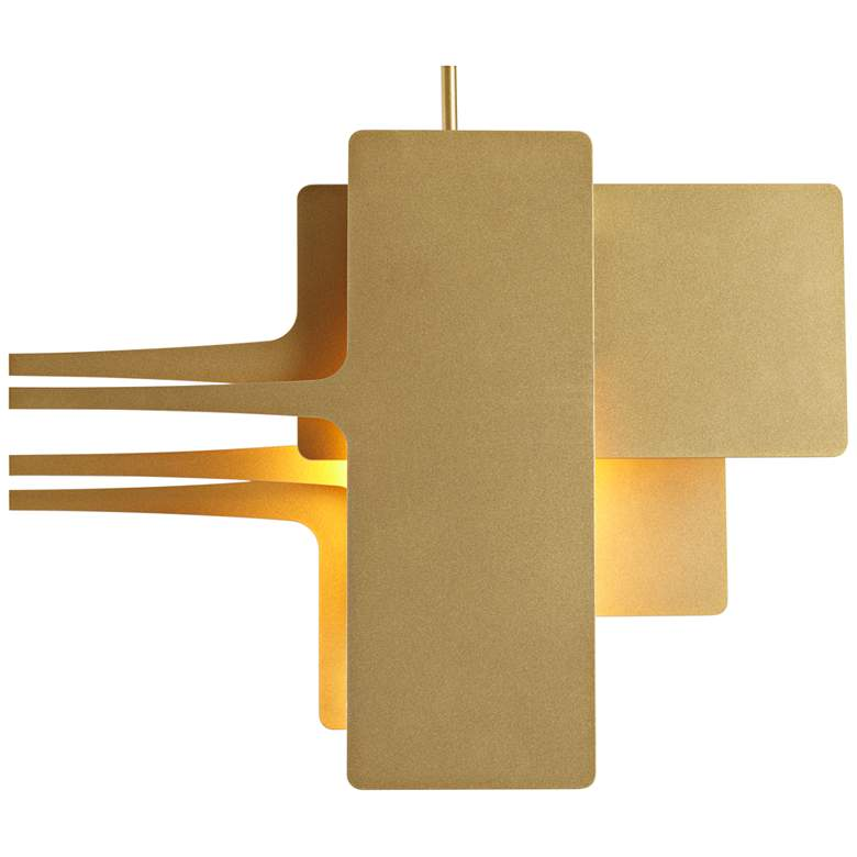 "Stretch 49 3/4"" Wide Gold Kitchen Island Light Pendant more views"