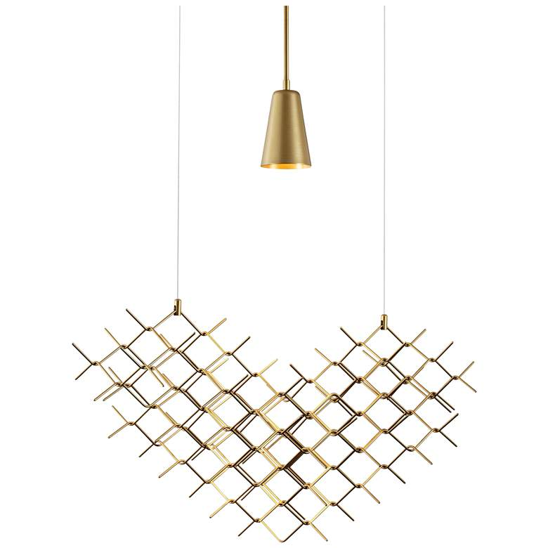 "Vermont Modern Hive 31 1/4"" Wide Gold Pendant Light more views"