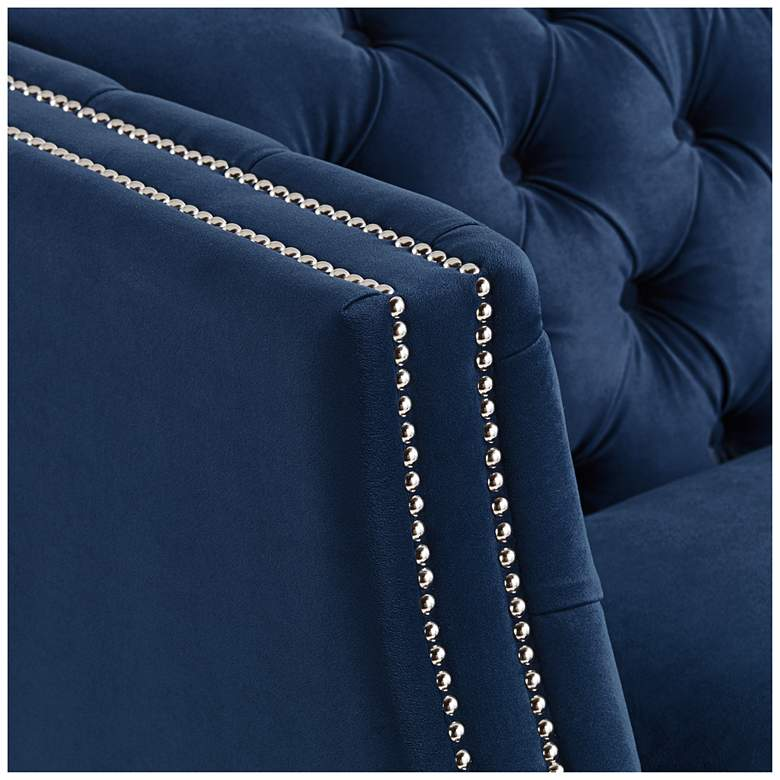 "Marilyn 93"" Wide Blue Velvet Tufted Upholstered Sofa more views"