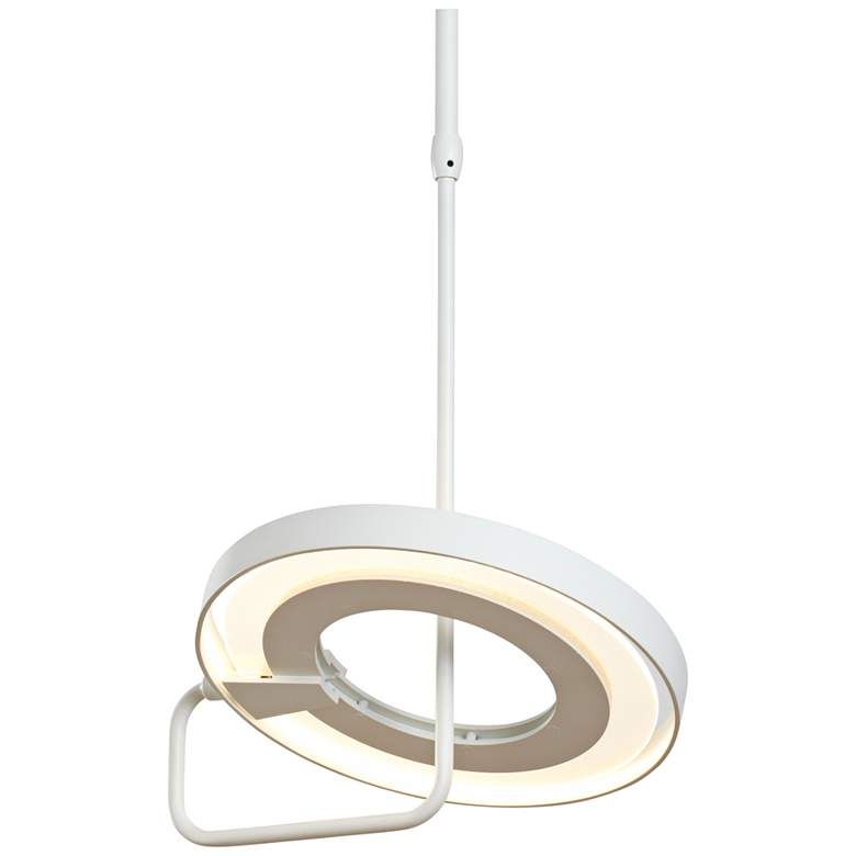 "Vermont Modern Ringo 11 3/4""W Satin White LED Mini Pendant more views"