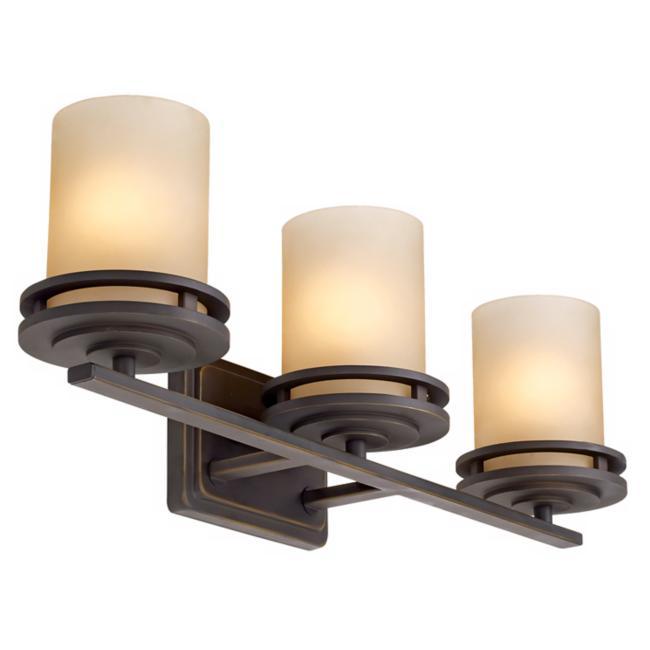 """Hendrik Bronze 24"""" Wide Bathroom Light Fixture"""