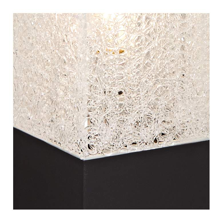 Textured Clear Acrylic Rectangular Floor Lamp more views