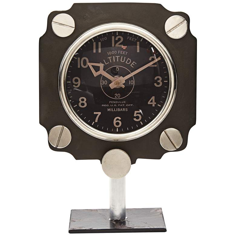 "Aircraft Altimeter Dial 10"" High Table Clock more views"