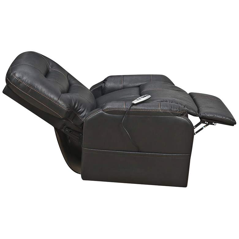 Tyson Black Fabric Heat and Massaging Lift Chair more views