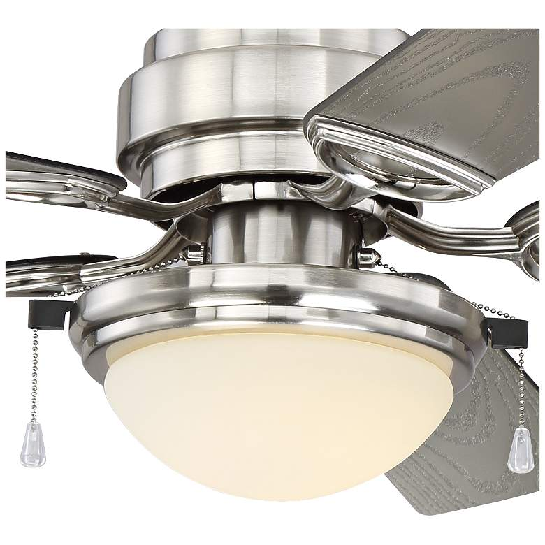 "52"" Marina Breeze Brushed Nickel Wet LED Ceiling Fan more views"