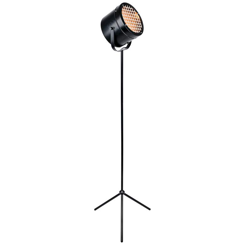 Lite Source Lucine Black Metal Studio Tripod Floor Lamp more views