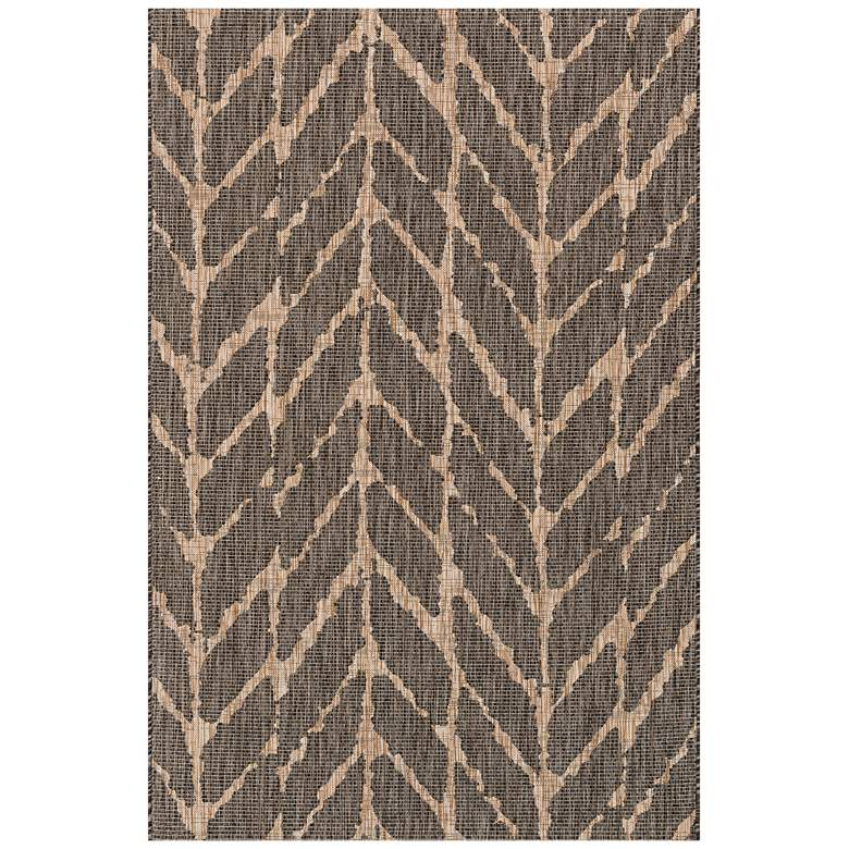 "Isle IE-02 5'3""x7'7"" Charcoal Mocha Outdoor Area Rug more views"