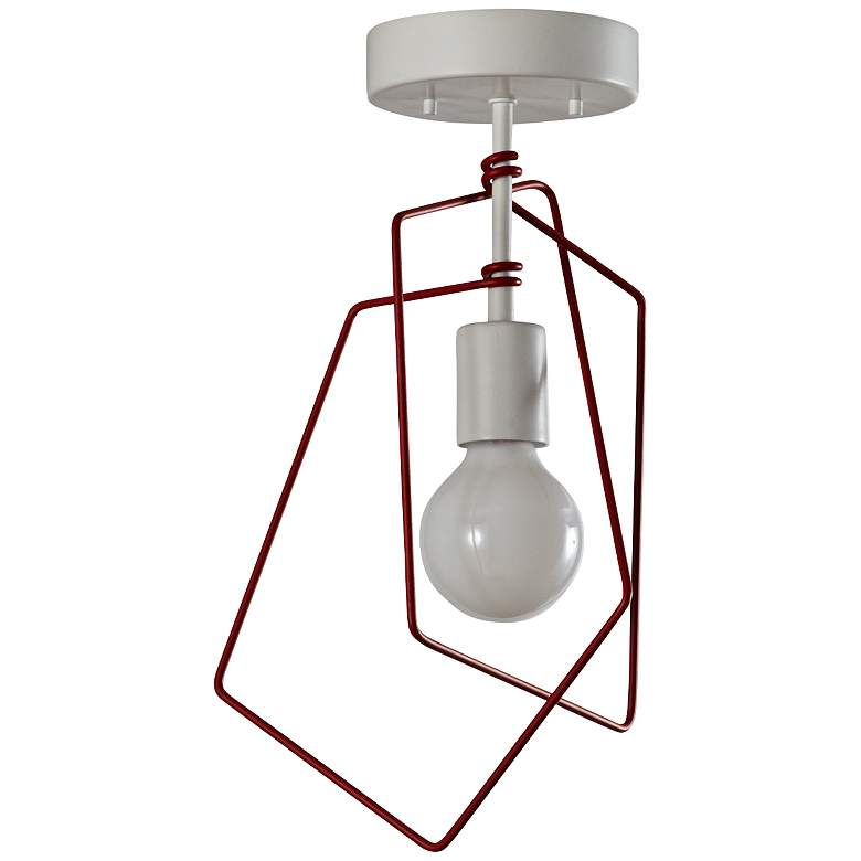 "Vermont Modern Filament 10 1/4""W Satin White Ceiling Light more views"