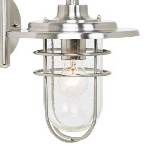 "Stratus 12 3/4"" High Brushed Nickel Outdoor Wall Light"