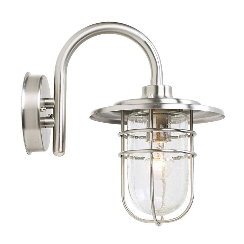 "Stratus 12 3/4"" High Brushed Nickel Outdoor Wall Light more views"