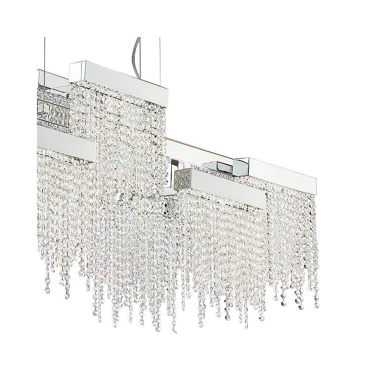 "Rossi 51 1/4""W Chrome LED Kitchen Island Light Chandelier more views"
