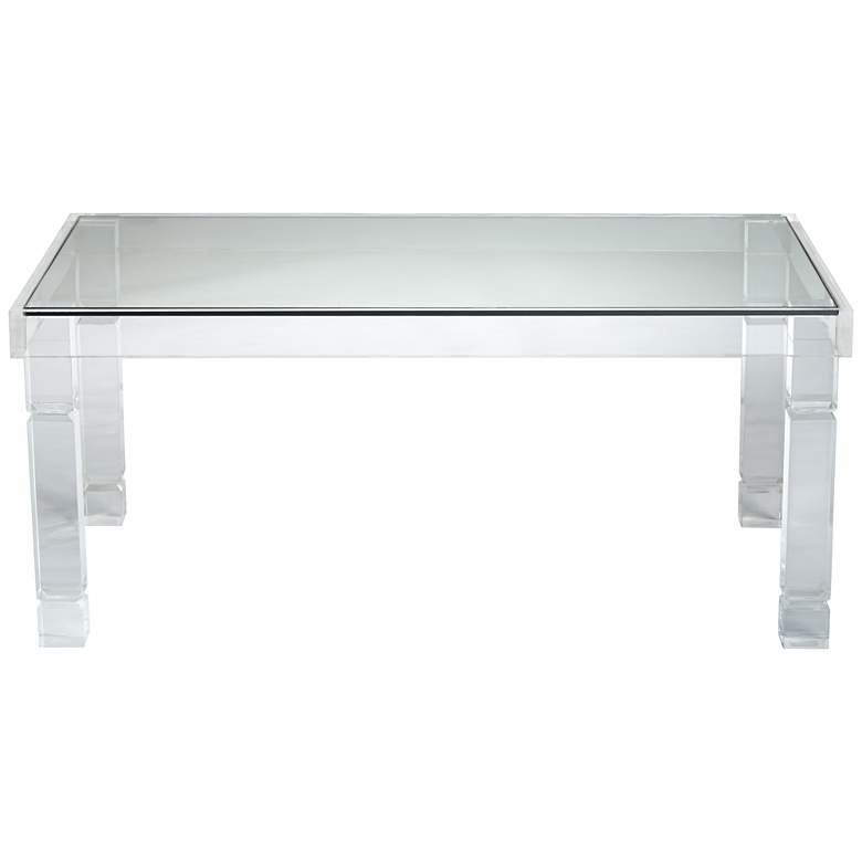 "Marley 42"" Wide Clear Acrylic Rectangular Coffee Table more views"