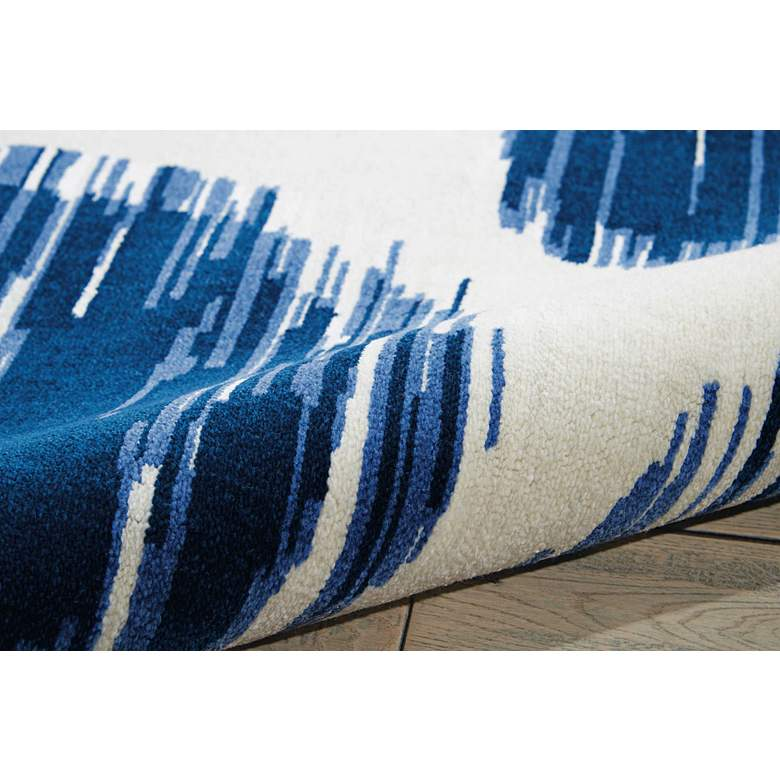 "Nourison Twilight TWI23 5'6""x8' Ivory Blue Area Rug more views"