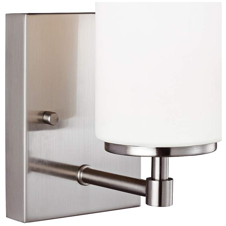 "Alturas 8 3/4"" High Brushed Nickel Wall Sconce more views"
