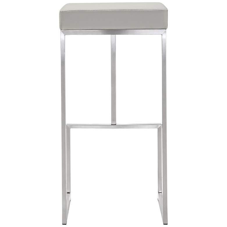 "Ferrara 29 1/2"" Light Gray and Steel Barstool Set of 2 more views"