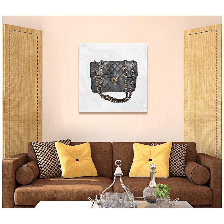 "Oliver Gal Everything But My Bag 12"" Square Canvas Wall Art more views"