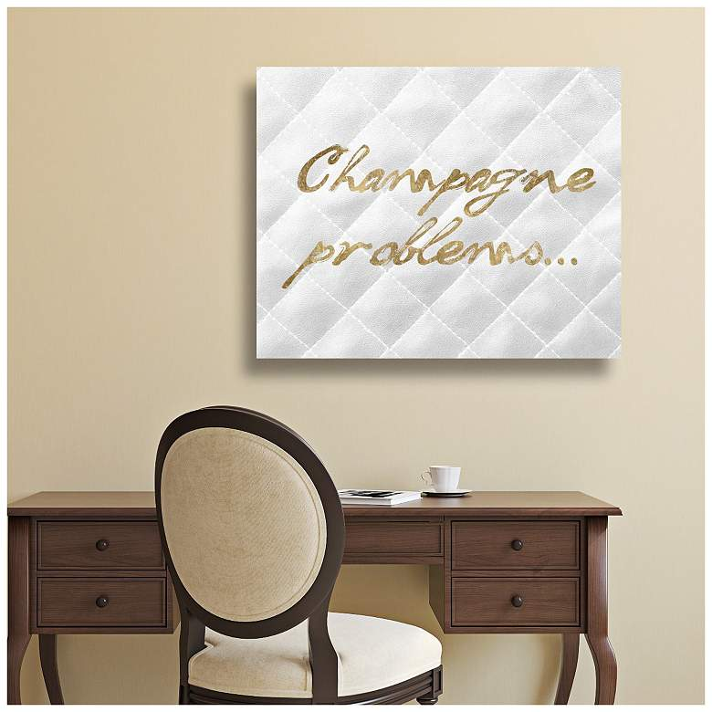 "Oliver Gal Champagne Issues Quilted 16"" Wide Canvas Wall Art more views"