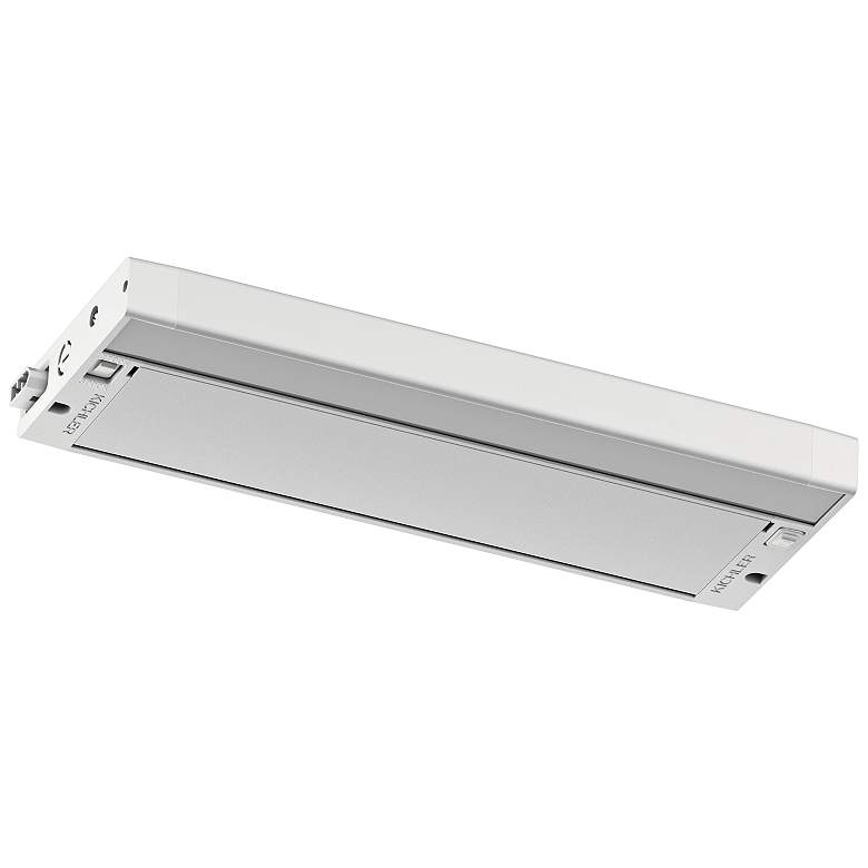"Kichler 6U 12"" Wide Textured White LED Under Cabinet Light more views"