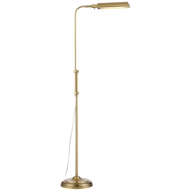 Culver Plated Aged Brass Adjustable Pharmacy LED Floor Lamp
