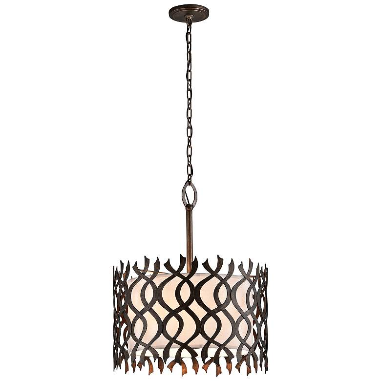 "Mai Tai 24 1/2"" Wide Cottage Bronze Pendant Light more views"