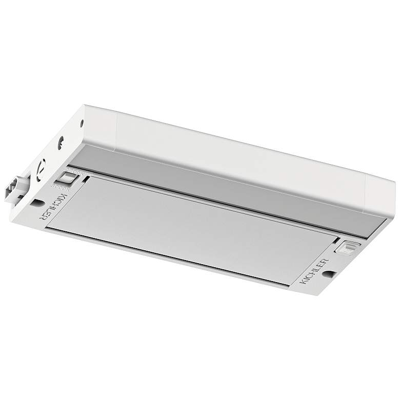"Kichler 6U 8"" Wide Textured White LED Under Cabinet Light more views"