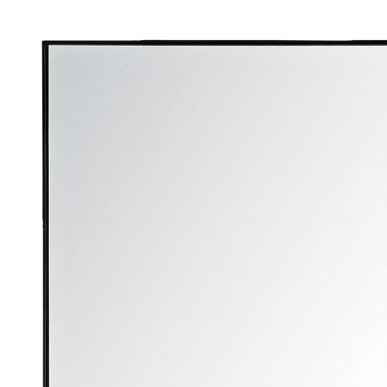 "Vale Charcoal Gray 21"" x 32"" Rectangular Wall Mirror more views"