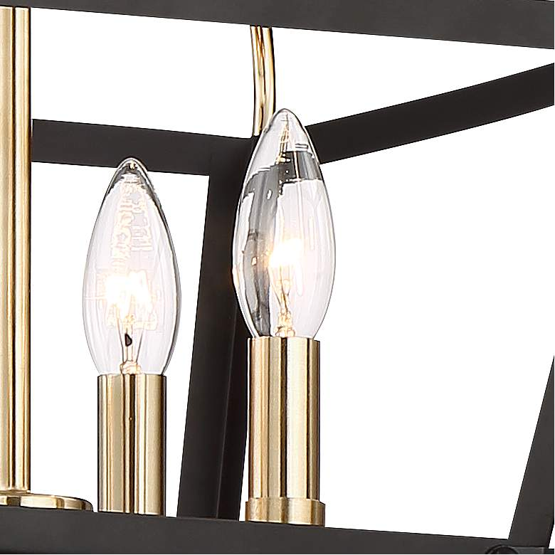 "Cranford 13"" Wide Warm Brass and Black 4-Light Ceiling Light more views"