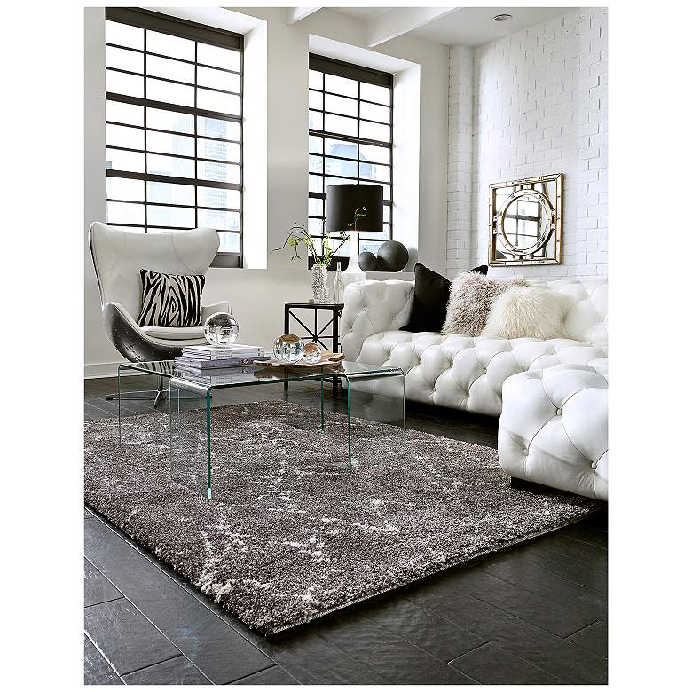 "Prima Shag RG956 5'3""x7'7"" Casablanca Taupe Area Rug more views"