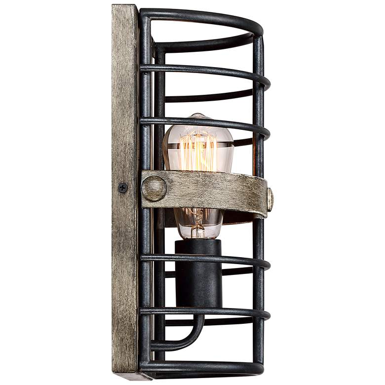 "Lexi 11 1/2"" High Oil Rubbed Bronze Pocket Wall Sconce more views"
