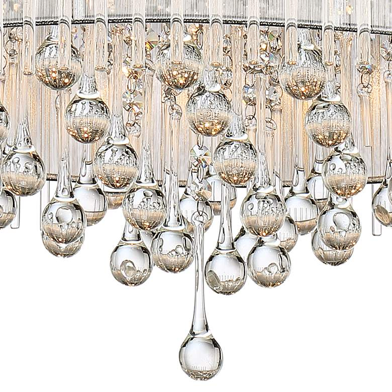 "Ashton 24"" Wide Chrome Crystal Pendant Light more views"