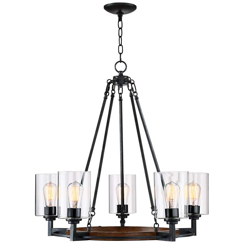 "Garamond 26 3/4"" Bronze 5-Light Chandelier more views"