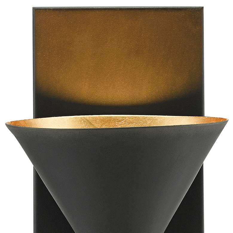 "Moderne 12"" High Blacksmith and Gold Leaf Wall Sconce more views"