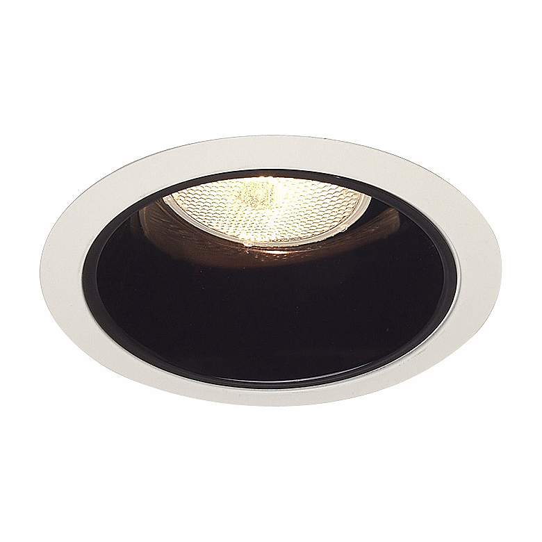 "Juno 6"" Black Alzak Recessed Trim with Florentine Medallion more views"