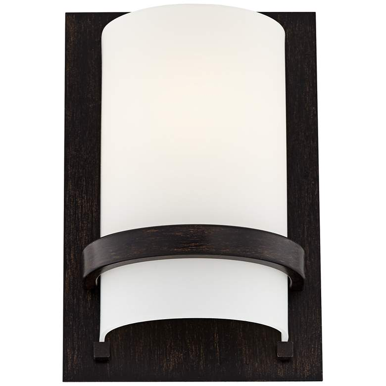 "Minka Lavery Contemporary 10"" High Iron Oxide Wall Sconce more views"
