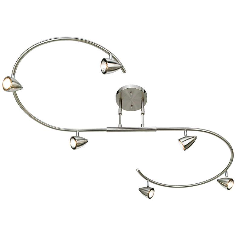 LED Pro Track® Salazar Brushed Nickel S-Wave Track Light more views