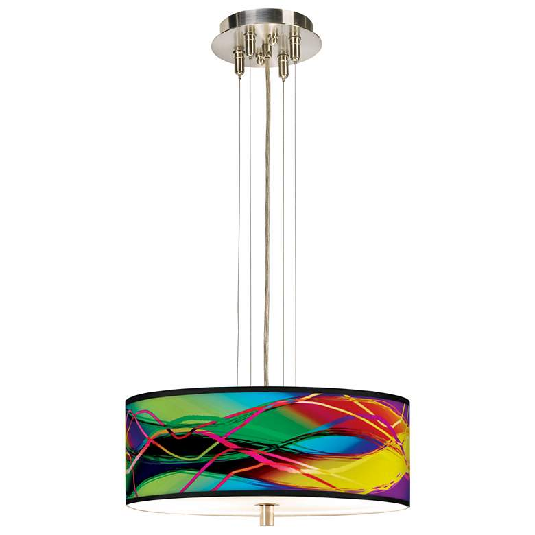 "Colors in Motion Light Giclee 14"" Wide Ceiling Light more views"