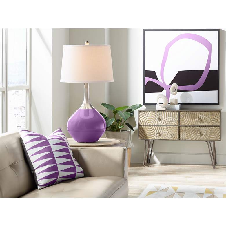 Passionate Purple Spencer Table Lamp more views