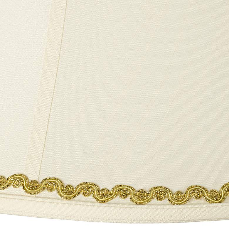 Imperial Shade with Metallic Gold Wave Trim 9x18x13 (Spider) more views