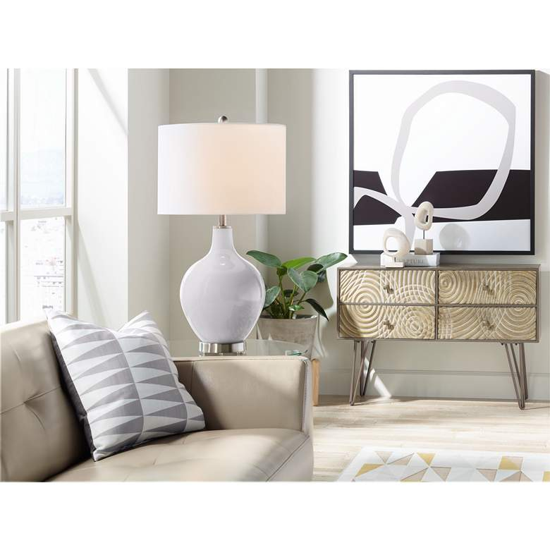 Swanky Gray Ovo Table Lamp more views