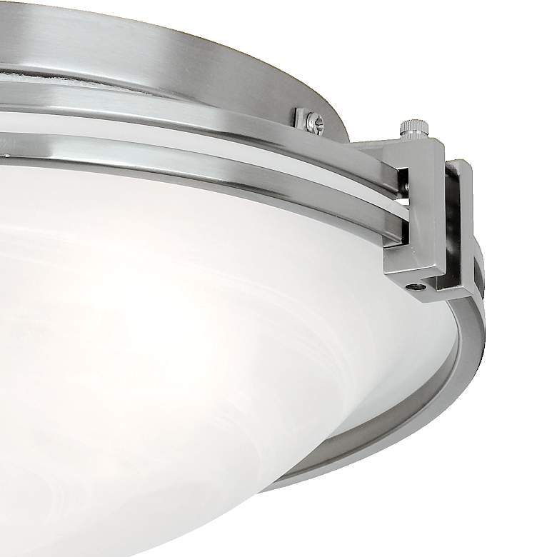 "Possini Euro Design Nickel 16 3/4"" Wide Ceiling Fixture more views"