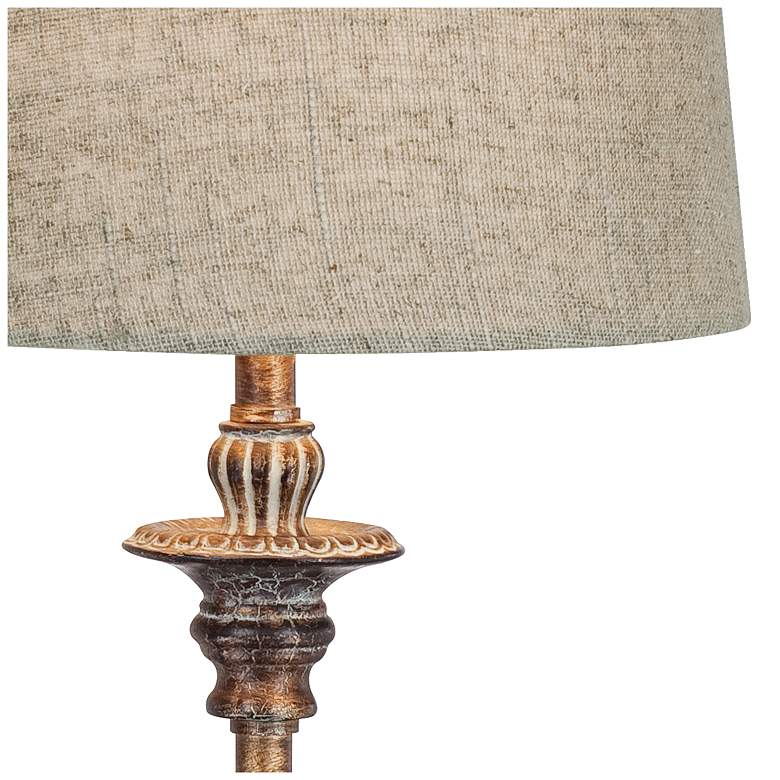 Bentley Weathered Brown Buffet Table Lamp more views